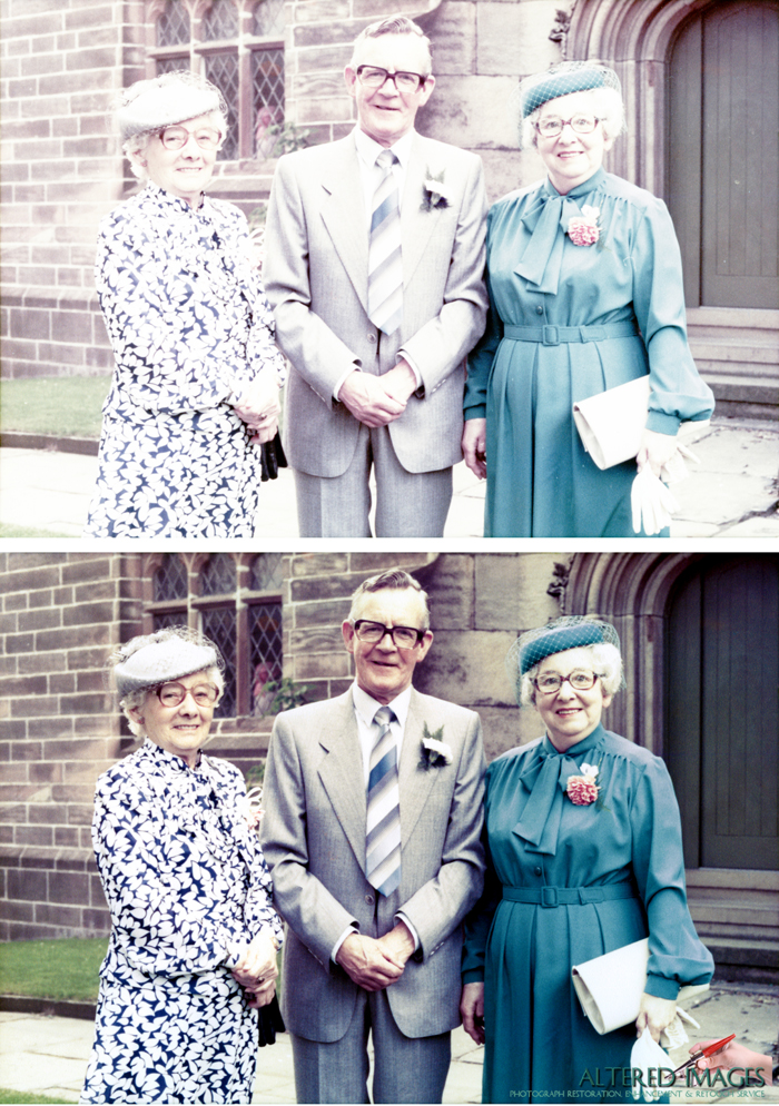 Photo Restoration by Altered Images